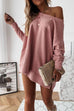 Kyledress Full Of Fall Off Shoulder Casual Loose Dress