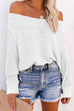 Kyledress Boat Neck Casual Loose Sweater
