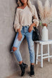 Kyledress Autumn Air Puff Sleeve Casual Loose Sweater