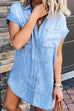 Kyledress Mango Pocket Denim Shirt Dress
