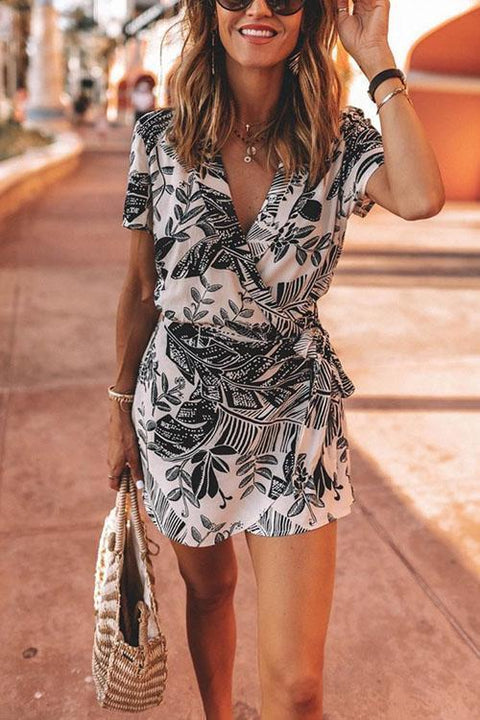 Kyledress Brazil Summer Flower Print Dress Romper