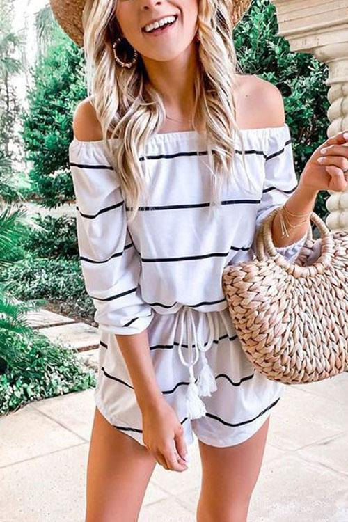 Kyledress Oxygen Beauty Striped Jumpsuit