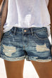 Kyledress Cici Mid Waist Jeans Denim Shorts