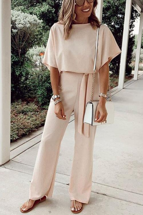 Kyledress Casual Lady Bat Sleeve Jumpsuit