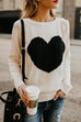 Kyledress  Chic Women Love Heart Knitting Sweaters
