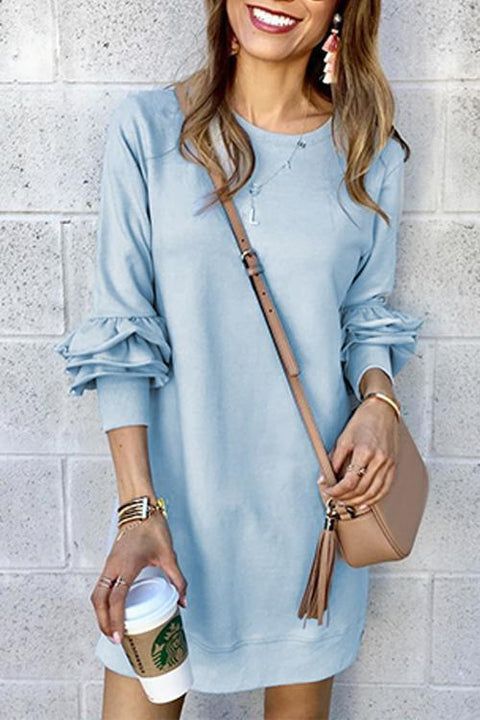 Kyledress  Love In The Sea Heaps Sleeves Mini Dress