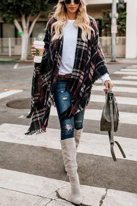 Kyledress Gird Lattice Cloak Poncho Sweater Cardigan