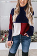 Kyledress Chic Splice Striped Turtleneck  Sweaters