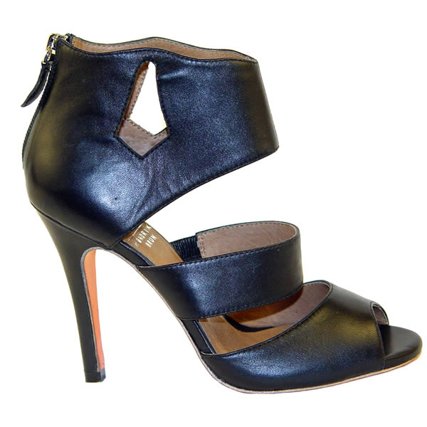 Karla - Black Heel Leather Sandal