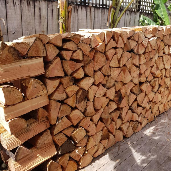 Douglas Fir Firewood - Stacked For You