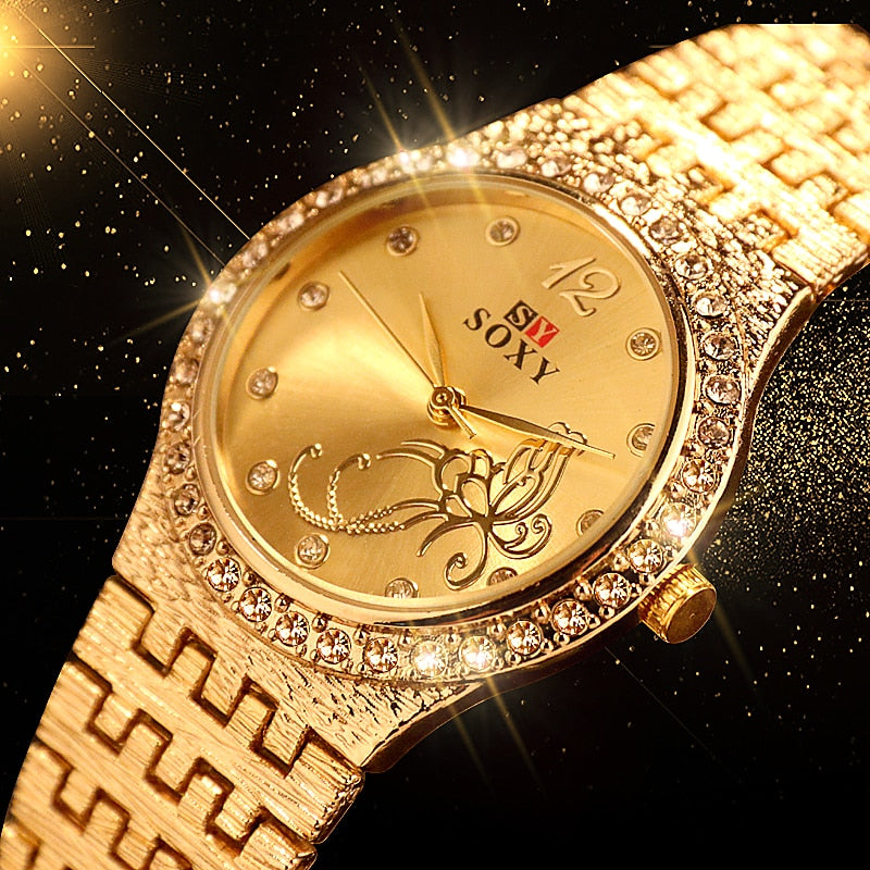 Women Bracelet Fashion  Rhinestone Watch