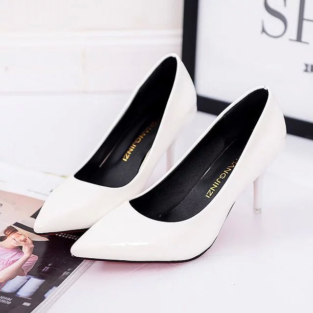 Women Rubber Slip-On Heels