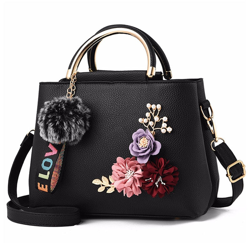 Women Tote Flowers Shell Sac A Main Bag