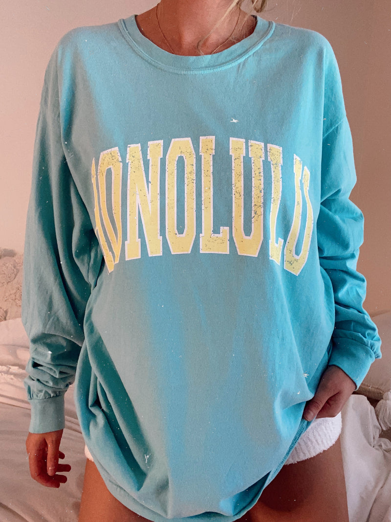 honolulu long sleeve tshirt Sunkissedcoconut™️