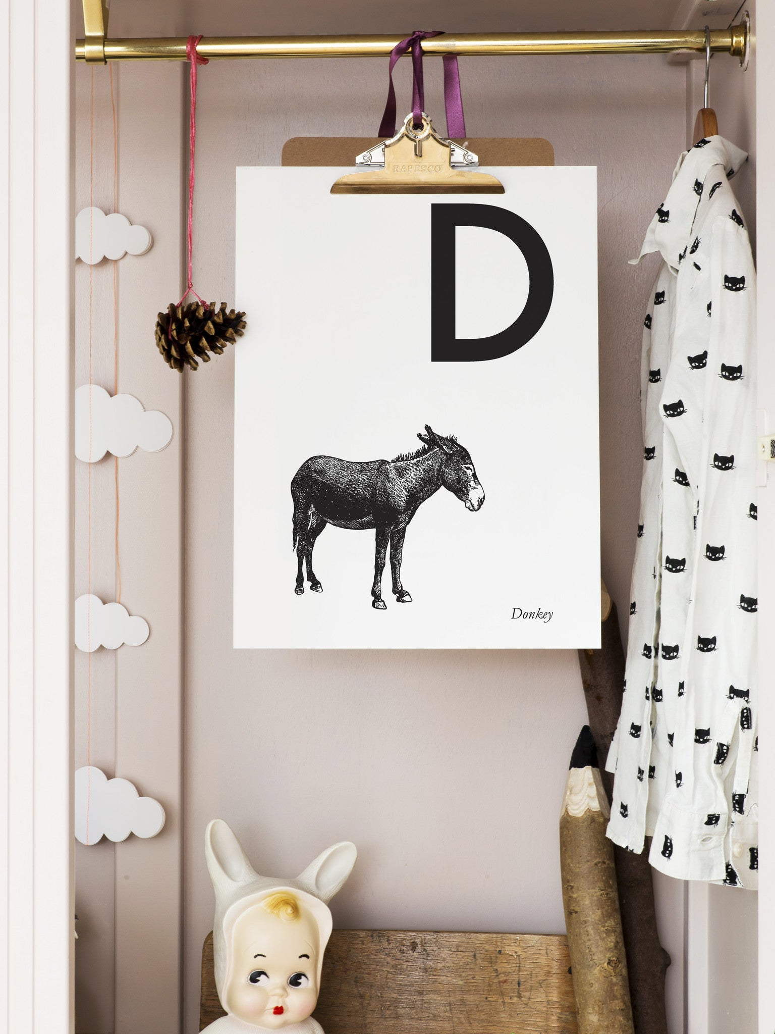 ANIMAL LETTER N DOWNLOADABLE PRINT