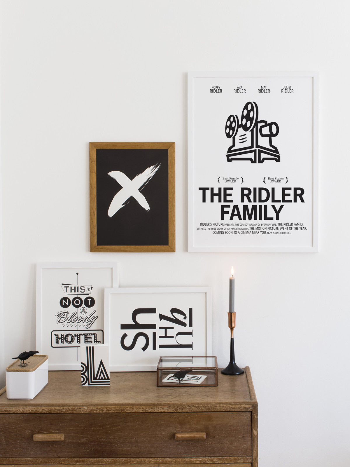 PERSONALISED FILM PRINT 'THE ADDAMS FAMILY'