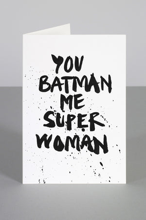 SUPERHEROES IN LOVE CARD