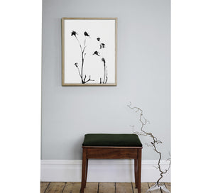 ROSE HIP PRINT,  A BOTANICAL PHOTOGRAPHIC BLACK AND WHITE POSTER