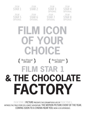 PERSONALISED FILM PRINT 'CHARLIE & THE CHOCOLATE FACTORY'