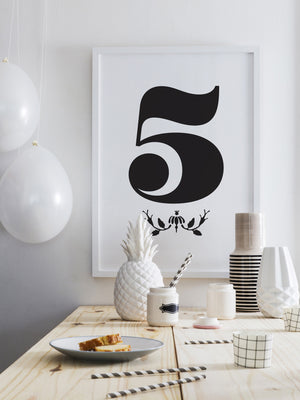 NUMBER 5 DOWNLOADABLE PRINTABLE PRINT