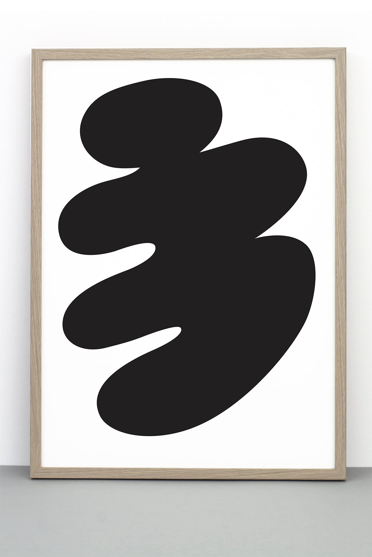 Abstract body print a black and white illustrative poster