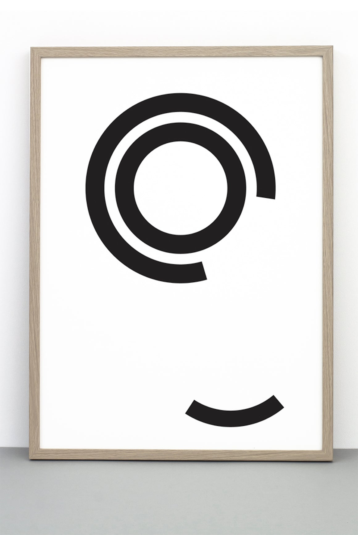 WHOLESALE DISTURBED CIRCLES PRINT, A BOLD BLACK AND WHITE MONOCHROME POSTER