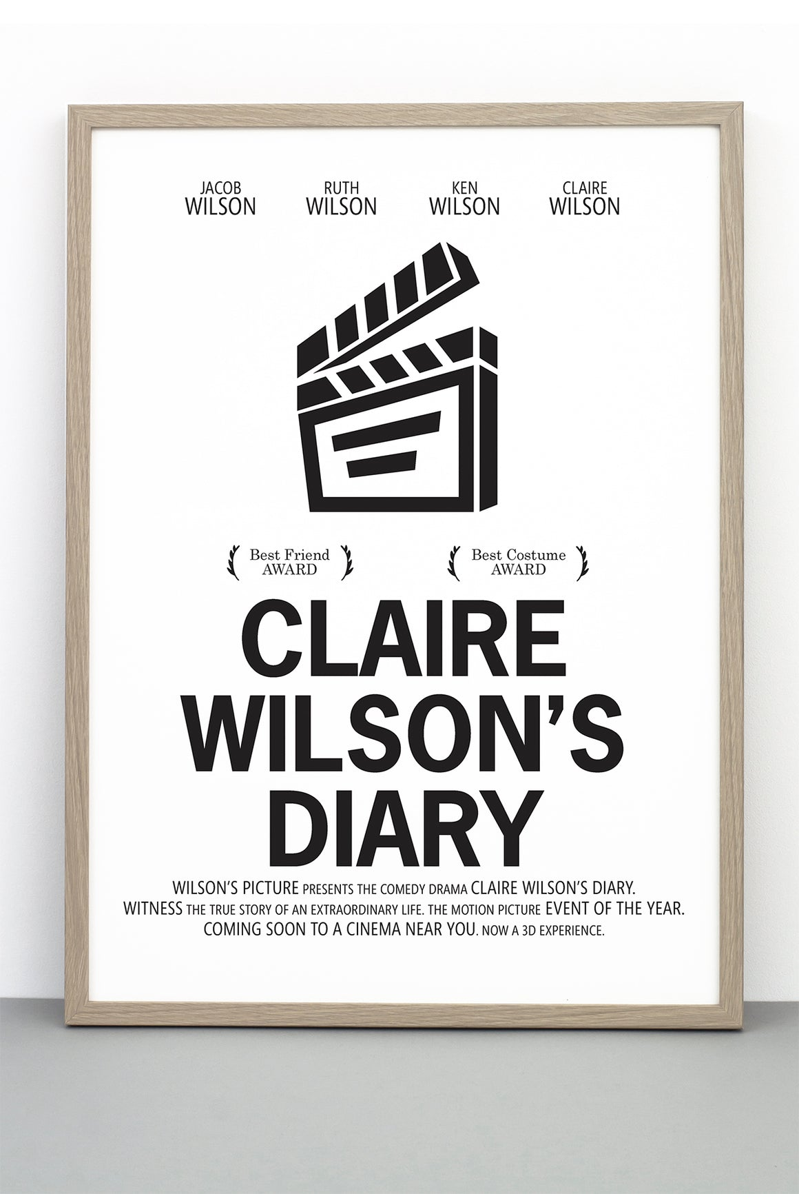 PERSONALISED FILM PRINT 'BRIDGET JONES'S DIARY'