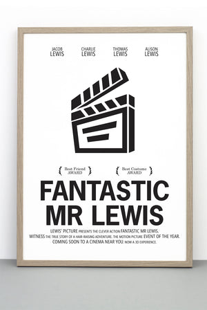 PERSONALISED FILM PRINT 'FANTASTIC MR FOX'