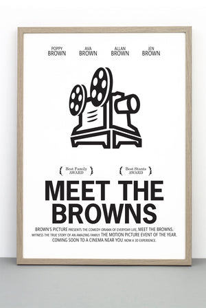 PERSONALISED FILM PRINT 'MEET THE FOCKERS'