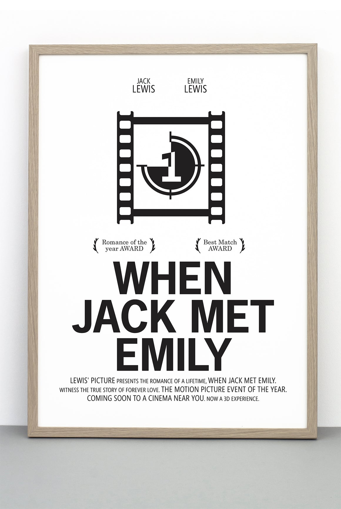 PERSONALISED FILM PRINT 'WHEN HARRY MET SALLY'