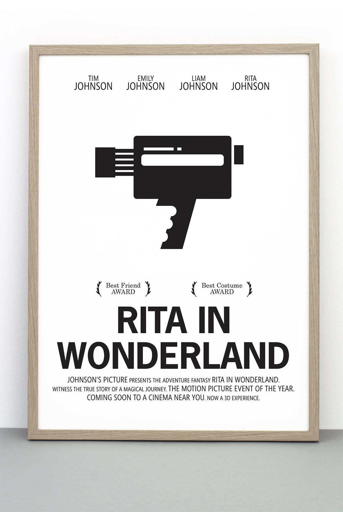 PERSONALISED FILM PRINT 'ALICE IN WONDERLAND'