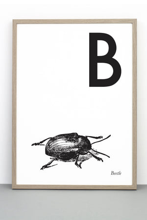 ANIMAL LETTER B, BEETLE, B DOWNLOADABLE PRINT