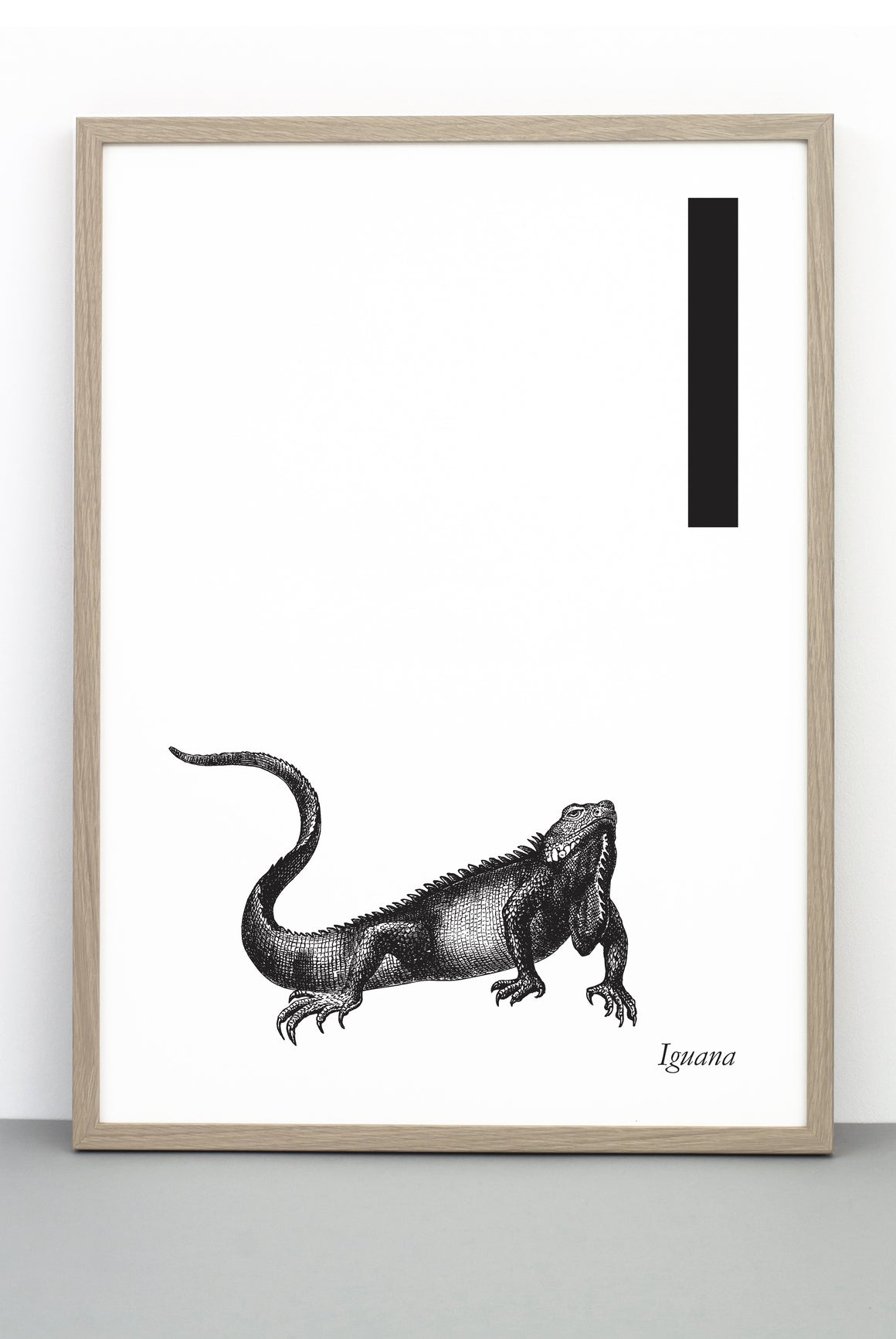 ANIMAL LETTER I, IGUANA, I DOWNLOADABLE PRINT