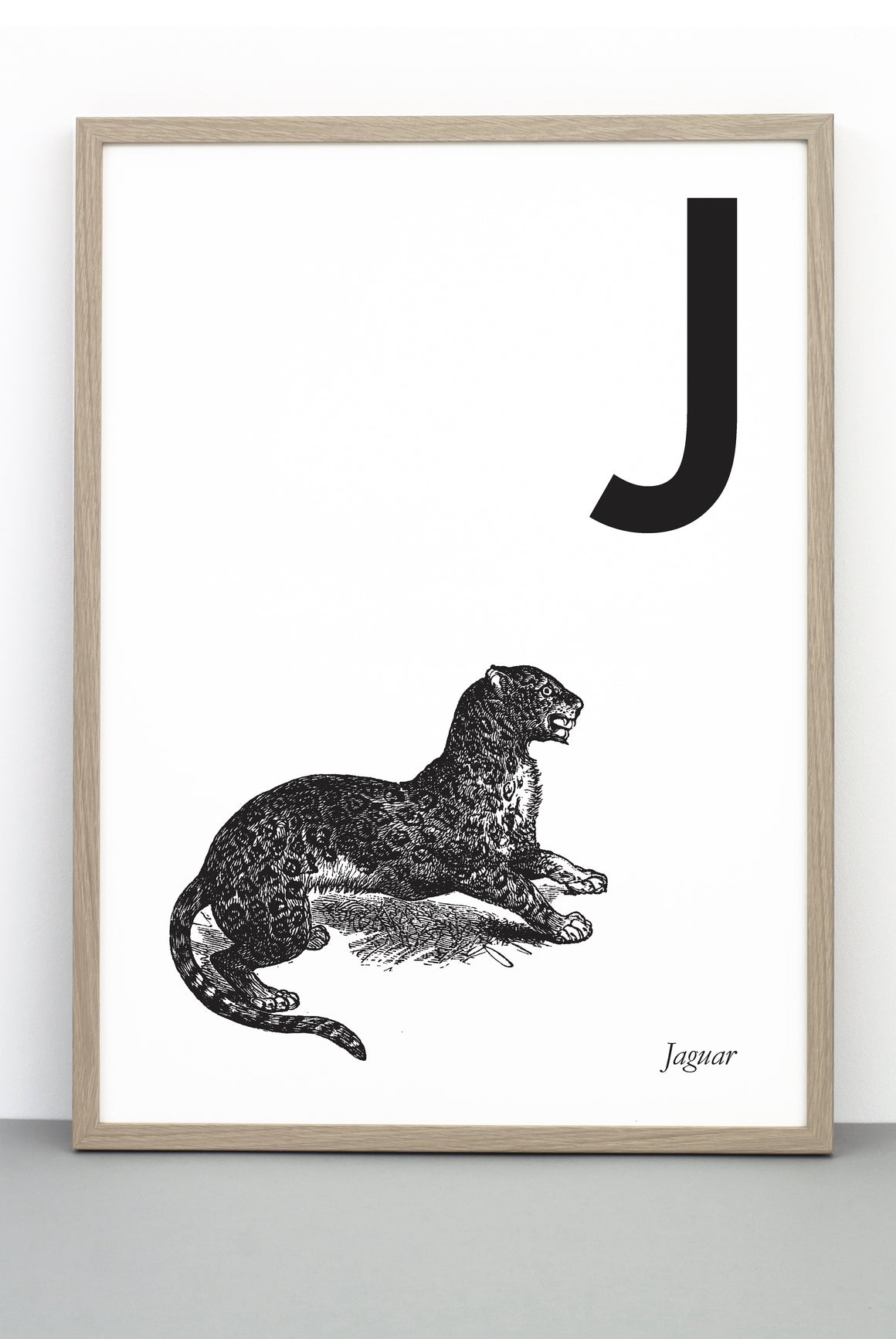 ANIMAL LETTER J, JAGUAR, J DOWNLOADABLE PRINT