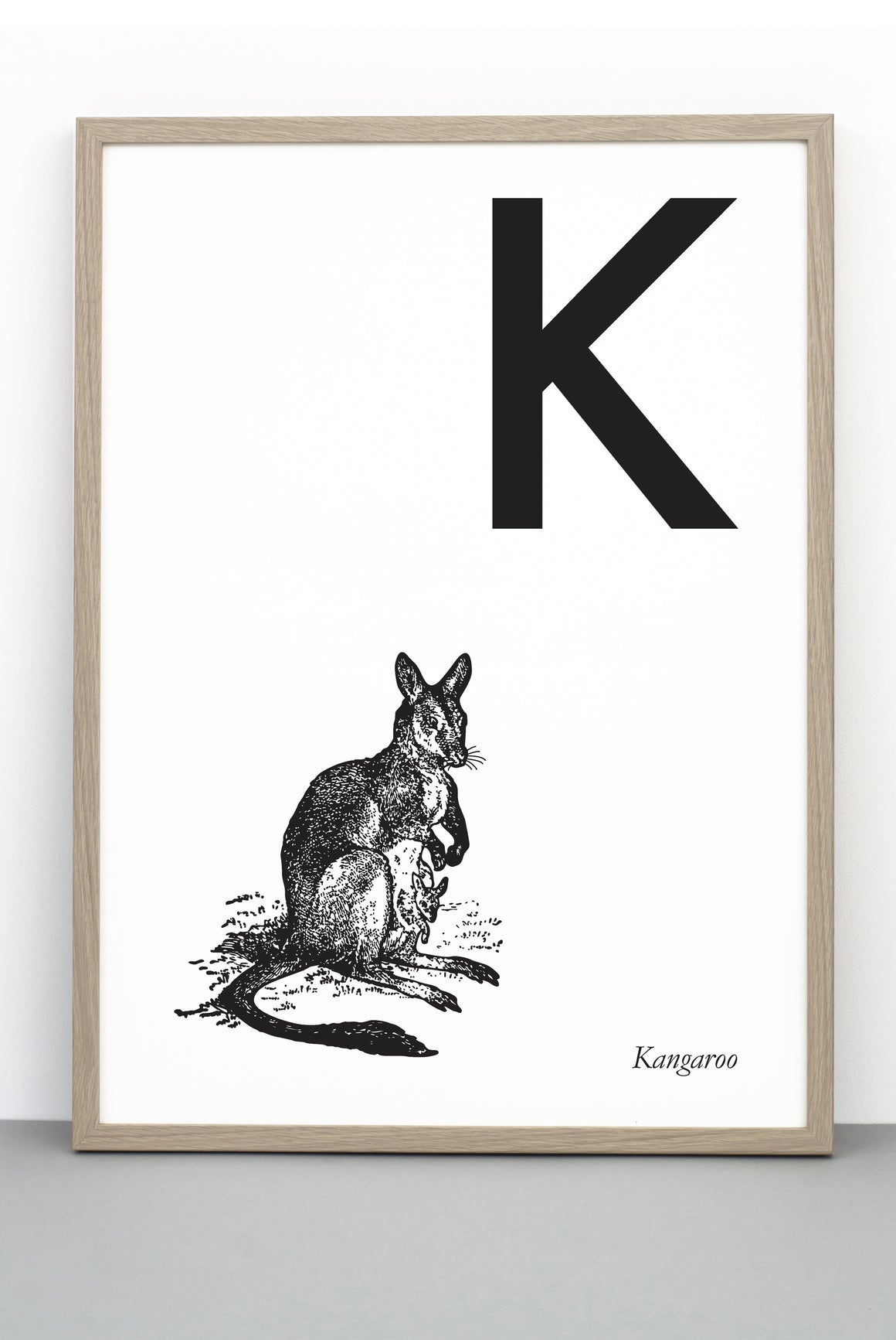 ANIMAL LETTER K, KANGAROO, K DOWNLOADABLE PRINT