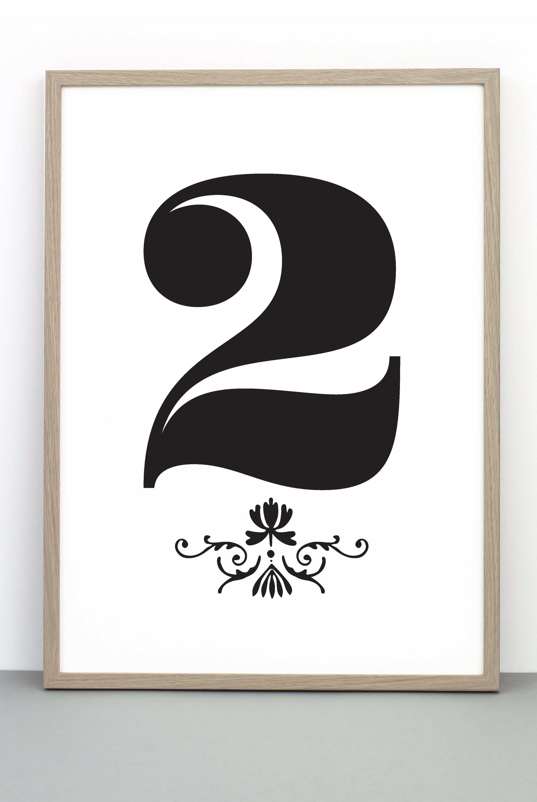 graphic relating to Number 2 Printable identified as Amount 2 DOWNLOADABLE PRINTABLE PRINT