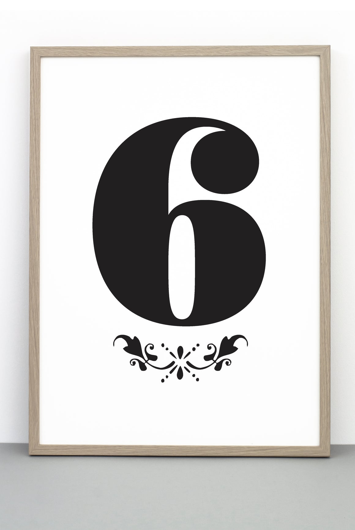 NUMBER 6 DOWNLOADABLE PRINTABLE PRINT