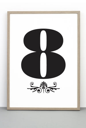 NUMBER 8 DOWNLOADABLE PRINTABLE PRINT