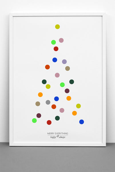 ONE TWO TREE IN COLOURS PRINT