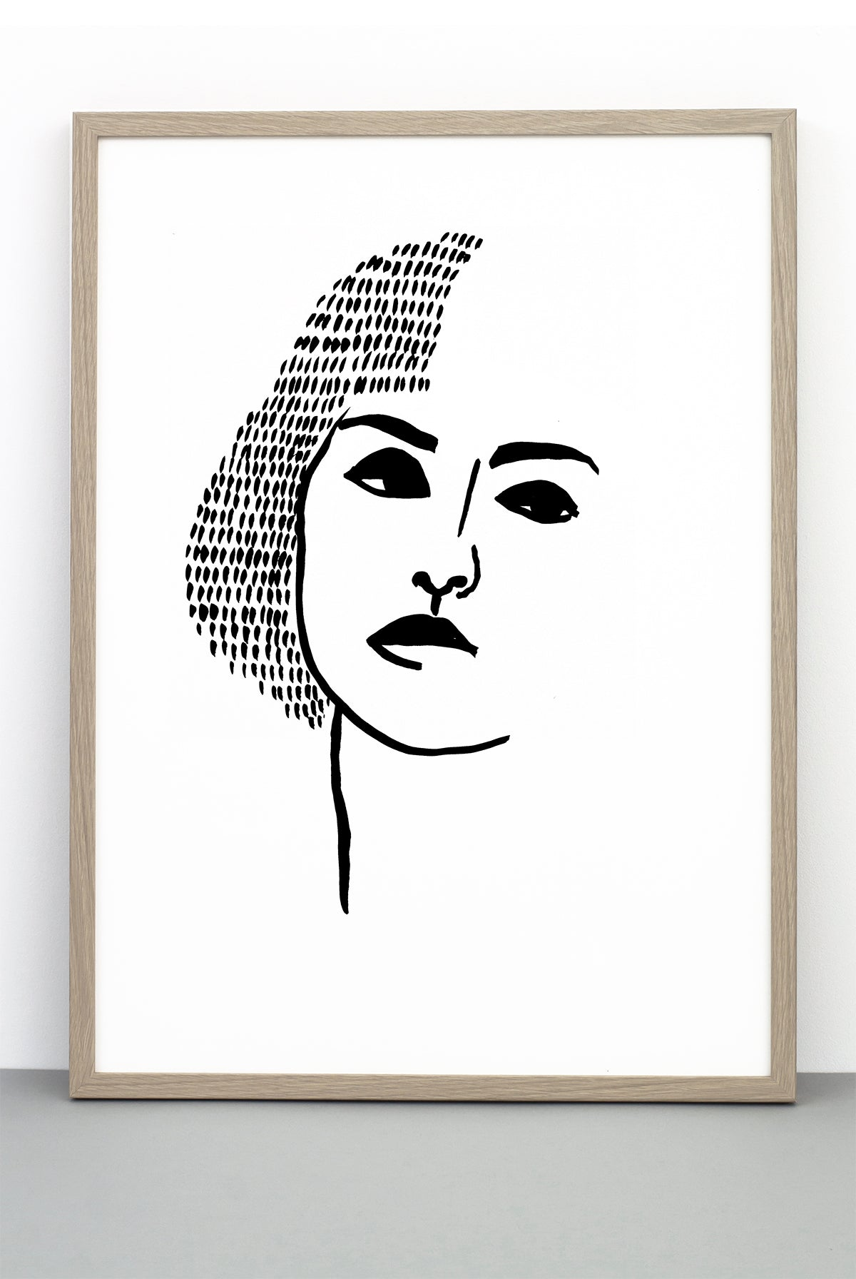 Portrait print 3 a black and white face poster one must dash