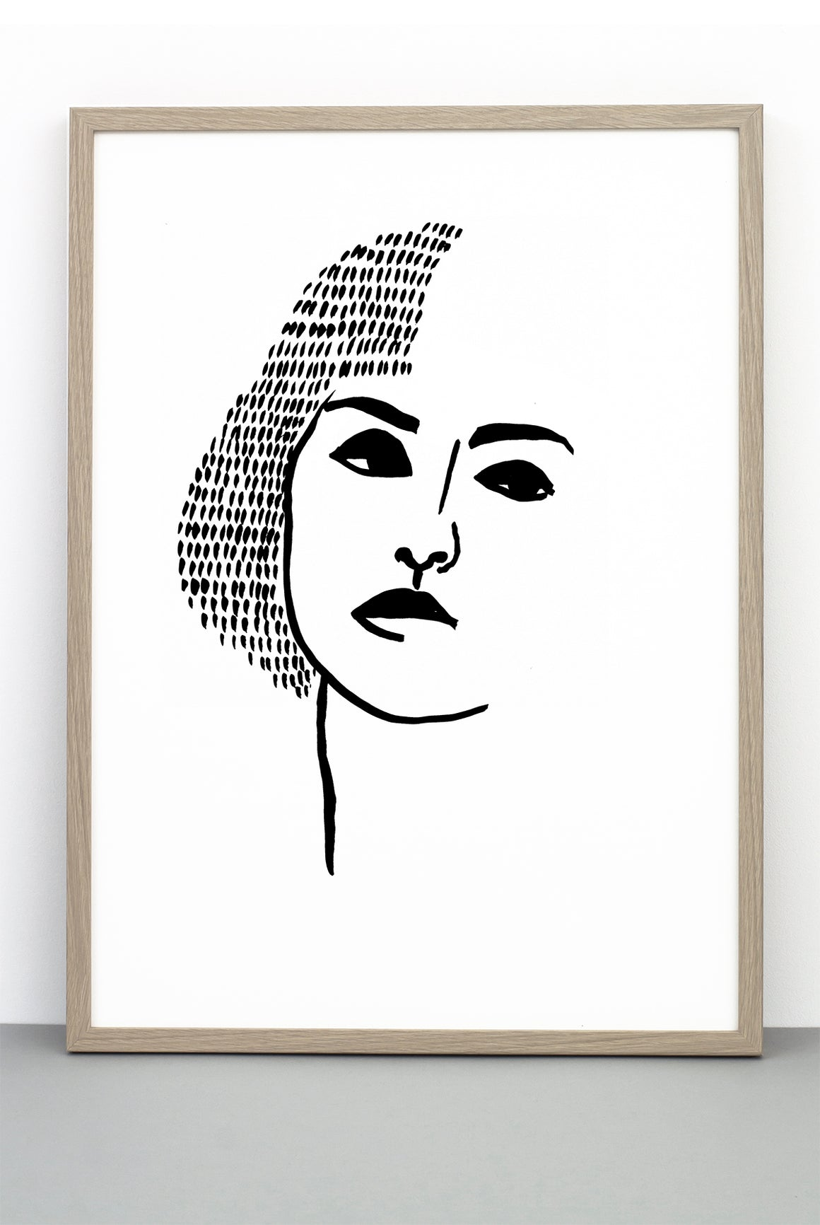 PORTRAIT PRINT 3, A BLACK AND WHITE FACE POSTER