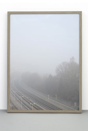 RAILWAY IN MIST PRINT, PHOTOGRAPHIC POSTER