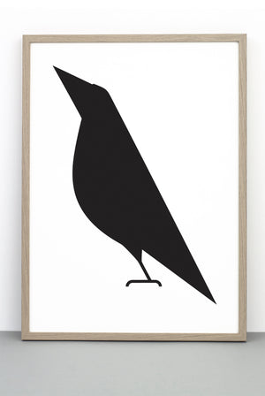 WHOLESALE THE ONLY WAY IS UP BIRD PRINT, ILLUSTRATIVE BIRD BLACK AND WHITE POSTER