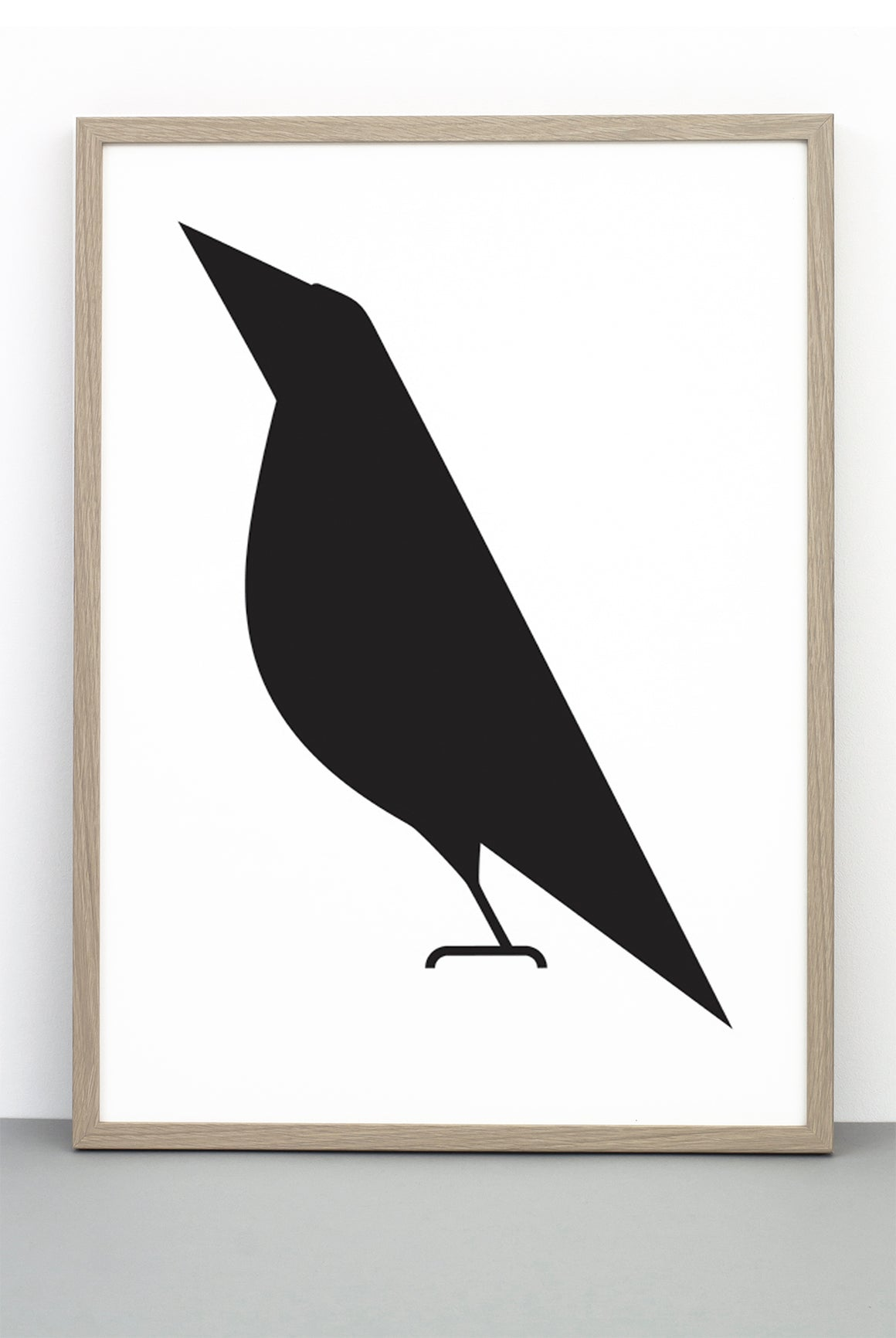 THE ONLY WAY IS UP BIRD PRINT, ILLUSTRATIVE BIRD BLACK AND WHITE POSTER