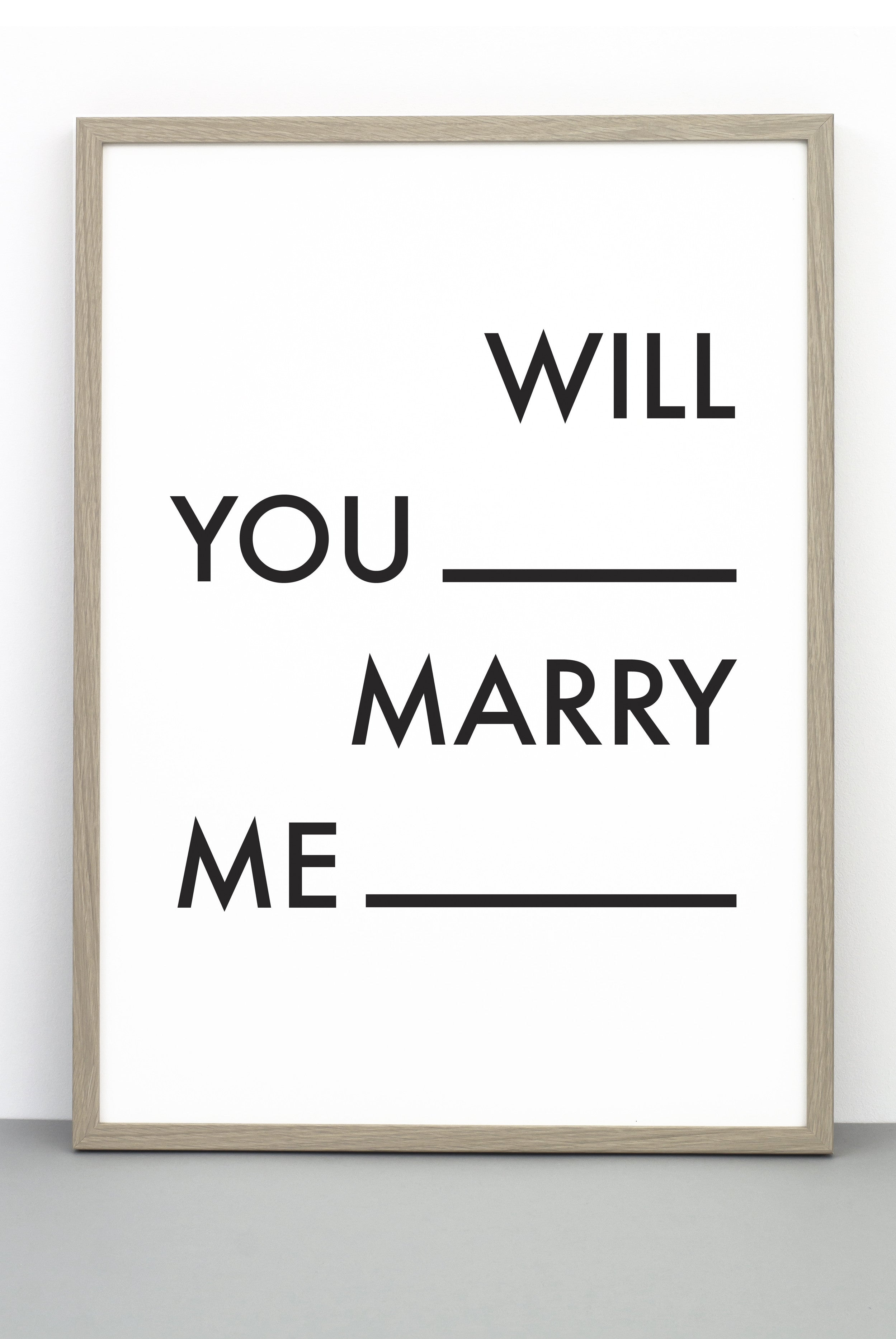 WILL YOU MARRY ME PRINT