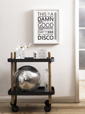 WHOLESALE FLASHDANCE PRINT, A TYPOGRAPHIC BLACK AND WHITE HAPPY POSTER