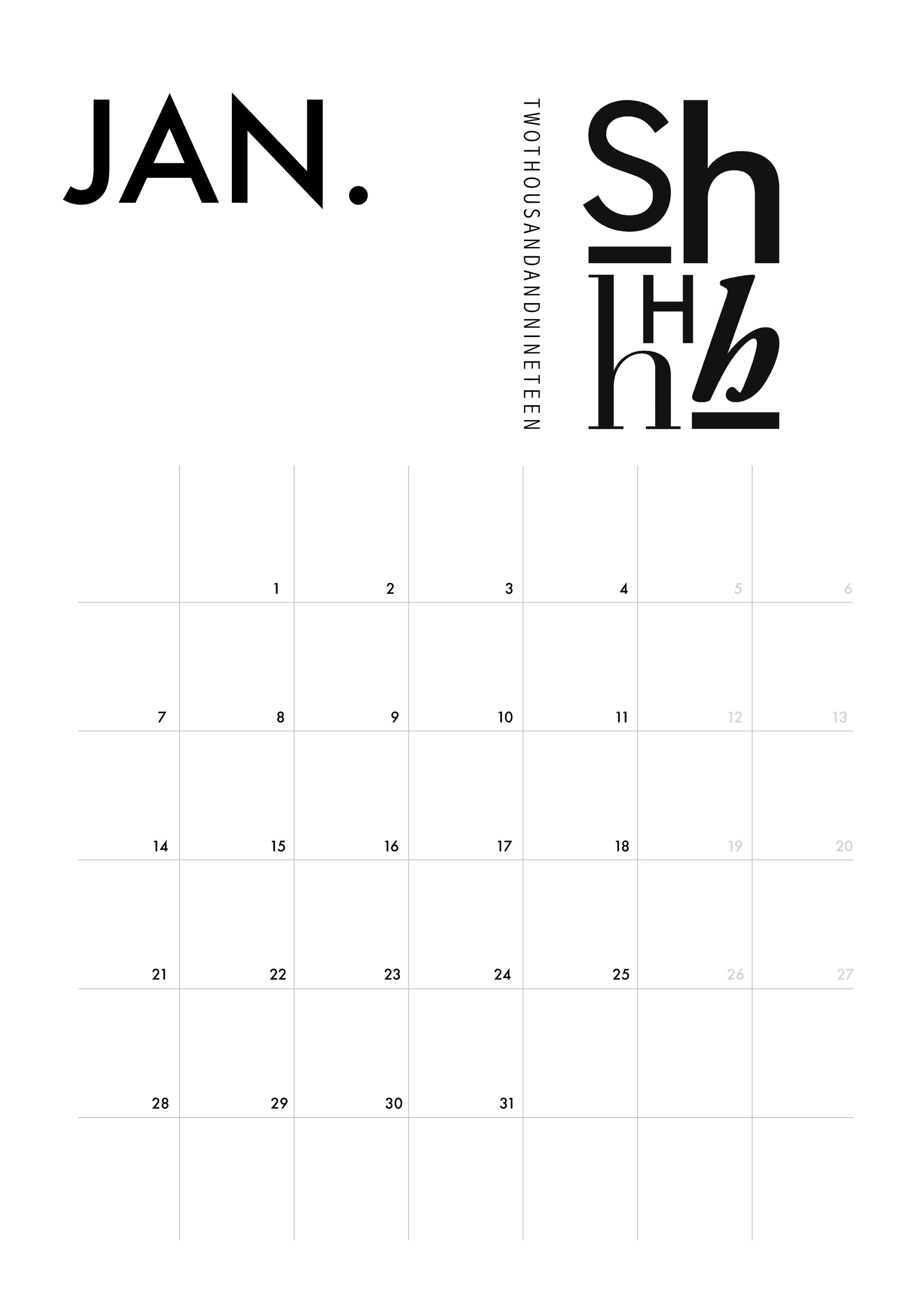 photo relating to Dec Printable Calendar known as PRINTABLE CALENDAR one particular need to sprint types, minimalistic, printable, A4 downloadable, Jan- Dec, Scandinavian style and design, typography, calendar year planner, black and
