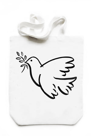 PEACE DOVE TOTE BAG