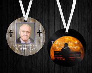 Memoriam, In Memory of, Ornament, 2 Sided, Design Your Own, Loved One, Memory,