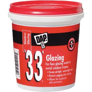 DAP 33 Window Glazing 1/2 Pint